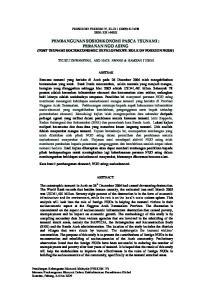 PEMBANGUNAN SOSIOEKONOMI PASCA TSUNAMI : PERANAN NGO ASING (POST TSUNAMI SOCIOECONOMIC DEVELOPMENT: ROLE OF FOREIGN NGOS)