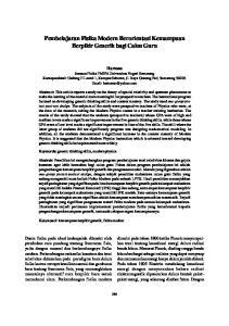 Pembelajaran Fisika Modern Berorientasi Kemampuan Berpikir Generik bagi Calon Guru