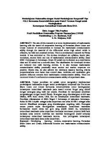 Pembelajaran Matematika dengan Model Pembelajaran Kooperatif Tipe FSLC