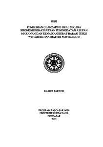PEMBERIAN OLANZAPINE ORAL SECARA KRONISMENGAKIBATKAN PENINGKATAN ASUPAN MAKANAN DAN KENAIKAN BERAT BADAN TIKUS WISTAR BETINA (RATTUS NORVEGICUS)