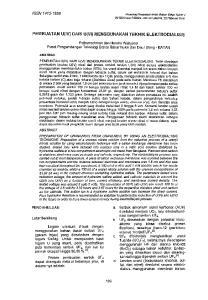 PEMBUA T AN U(IV) DARI U(VI) MENGGUNAKAN TEKNIK ELEKTRODIALISIS