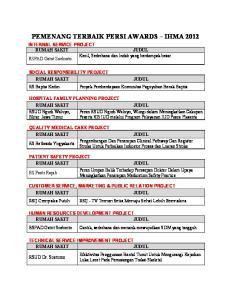 PEMENANG TERBAIK PERSI AWARDS IHMA 2012