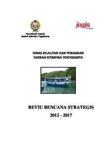 Pemerintah Daerah Daerah Istimewa Yogyakarta DINAS KELAUTAN DAN PERIKANAN DAERAH ISTIMEWA YOGYAKARTA