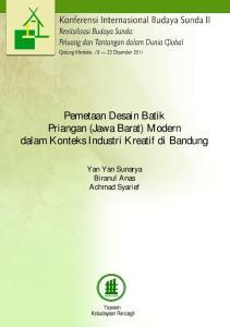 Pemetaan Desain Batik Priangan (Jawa Barat) Modern dalam Konteks Industri Kreatif di Bandung