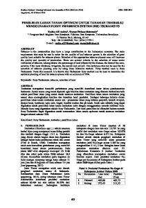 PEMILIHAN LAHAN TANAM OPTIMUM UNTUK TANAMAN TEMBAKAU MENGGUNAKAN FUZZY INFERENCE SYSTEM (FIS) TSUKAMOTO