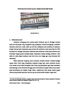 PENANGANAN BANK GAGAL BERDAMPAK SISTEMIK