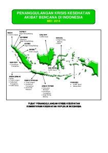 PENANGGULANGAN KRISIS KESEHATAN AKIBAT BENCANA DI INDONESIA MEI 2014