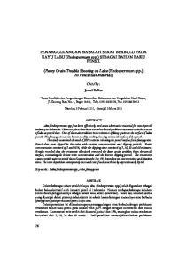 PENANGGULANGAN MASALAH SERAT BERBULU PADA KAYU LABU ( Endospermum spp.) SEBAGAI BAHAN BAKU PENSIL
