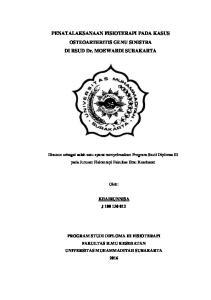 PENATALAKSANAAN FISIOTERAPI PADA KASUS OSTEOARTHRITIS GENU SINISTRA DI RSUD Dr. MOEWARDI SURAKARTA