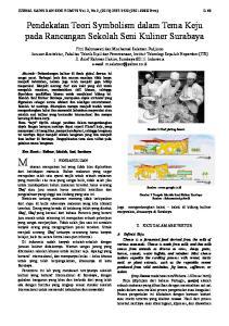 Pendekatan Teori Symbolism dalam Tema Keju pada Rancangan Sekolah Seni Kuliner Surabaya