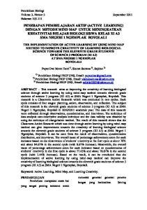 Pendidikan Biologi Volume 3, Nomor 3 September 2011 Halaman