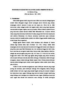 PENDIDIKAN KARAKTER DALAM KELUARGA PERSPEKTIF ISLAM Dr. Marzuki, M.Ag. (PKn dan Hukum FIS - UNY)