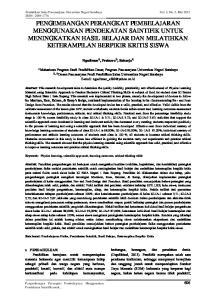 Pendidikan Sains Pascasarjana Universitas Negeri Surabaya ISSN :