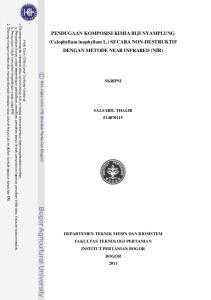 PENDUGAAN KOMPOSISI KIMIA BIJI NYAMPLUNG (Calophyllum inophyllum L.) SECARA NON-DESTRUKTIF DENGAN METODE NEAR INFRARED (NIR)