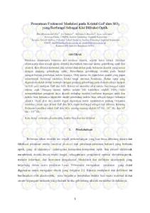 Penentuan Frekuensi Modulasi pada Kristal GaP dan SiO 2 yang Berfungsi Sebagai Kisi Difraksi Optik