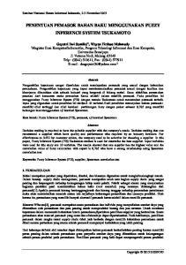 PENENTUAN PEMASOK BAHAN BAKU MENGGUNAKAN FUZZY INFERENCE SYSTEM TSUKAMOTO