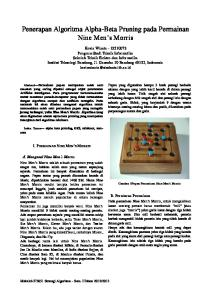 Penerapan Algoritma Alpha-Beta Pruning pada Permainan Nine Men s Morris