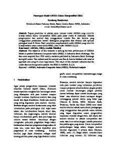 Penerapan Model ARIMA Dalam Memprediksi IHSG
