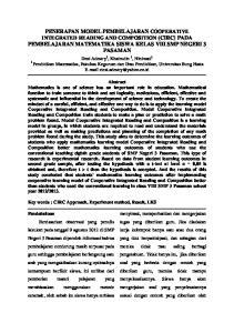 PENERAPAN MODEL PEMBELAJARAN COOPERATIVE INTEGRATED READING AND COMPOSITION (CIRC) PADA PEMBELAJARAN MATEMATIKA SISWA KELAS VIII SMP NEGERI 3 PASAMAN