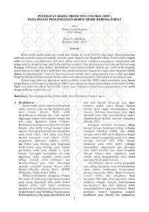 PENERAPAN MODEL PREDICTIVE CONTROL (MPC) PADA DESAIN PENGENDALIAN ROBOT MOBIL BERODA EMPAT