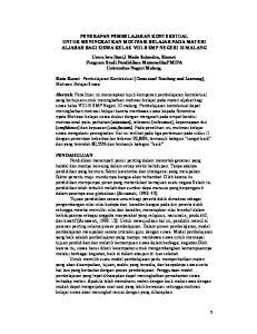 PENERAPAN PEMBELAJARAN KONTEKSTUAL UNTUK MENINGKATKAN MOTIVASI BELAJAR PADA MATERI ALJABAR BAGI SISWA KELAS VIII-B SMP NEGERI 10 MALANG