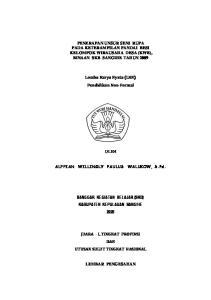 PENERAPAN UNSUR SENI RUPA PADA KETERAMPILAN PANDAI BESI KELOMPOK WIRAUSAHA DESA (KWB), BINAAN SKB SANGIHE TAHUN 2009