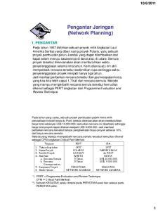 Pengantar Jaringan (Network Planning)