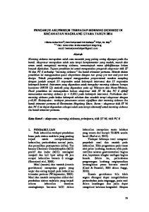 PENGARUH AKUPRESUR TERHADAP MORNING SICKNESS DI KECAMATAN MAGELANG UTARA TAHUN 2014