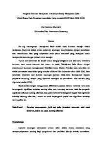 Pengaruh Aset dan Manajemen Inventory terhadap Manajemen Laba. (Studi Kasus Pada Peusahaan manufaktur yang tercatat di BEI Tahun )