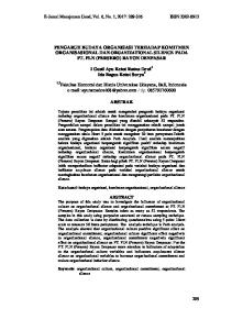 PENGARUH BUDAYA ORGANISASI TERHADAP KOMITMEN ORGANISASIONAL DAN ORGANIZATIONAL SILENCE PADA PT. PLN (PERSERO) RAYON DENPASAR