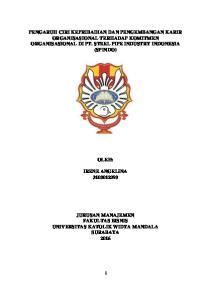 PENGARUH CIRI KEPRIBADIAN DAN PENGEMBANGAN KARIR ORGANISASIONAL TERHADAP KOMITMEN ORGANISASIONAL DI PT. STEEL PIPE INDUSTRY INDONESIA (SPINDO)