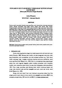 PENGARUH EKUITAS MEREK TERRHADAP KEPERCAYAAN KONSUMEN (Kasus pada Minuman Ringan Merek X)