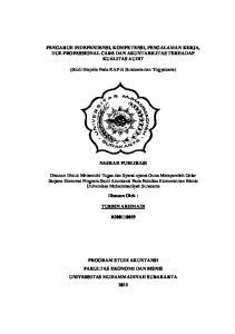 PENGARUH INDEPENDENSI, KOMPETENSI, PENGALAMAN KERJA, DUE PROFESSIONAL CARE DAN AKUNTABILITAS TERHADAP KUALITAS AUDIT