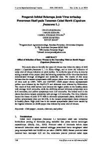 Pengaruh Infeksi Beberapa Jenis Virus terhadap Penurunan Hasil pada Tanaman Cabai Rawit (Capsicum frutescens L.)