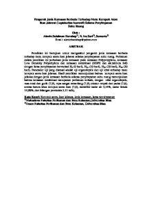 Pengaruh Jenis Kemasan Berbeda Terhadap Mutu Kerupuk Atom Ikan Jelawat (Leptobarbus hoevenii) Selama Penyimpanan Suhu Ruang