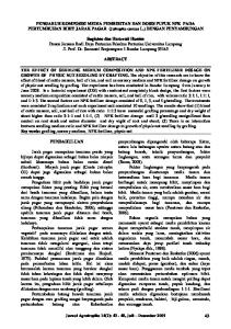 PENGARUH KOMPOSISI MEDIA PEMBIBITAN DAN DOSIS PUPUK NPK PADA PERTUMBUHAN BIBIT JARAK PAGAR (Jatropha curcas L.) DENGAN PENYAMBUNGAN