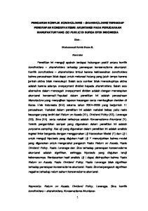 PENGARUH KONFLIK BONDHOLDERS SHAREHOLDERS TERHADAP PENERAPAN KONSERVATISME AKUNTANSI PADA PERUSAHAAN MANUFAKTURYANG GO PUBLIC DI BURSA EFEK INDONESIA