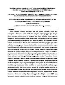 PENGARUH KUALITAS PELAYANAN E-GOVERNMENT KANTOR IMIGRASI KELAS II KARAWANG TERHADAP KEPUASAN PENGGUNA JASA KEIMIGRASIAN MELALUI INTERNET