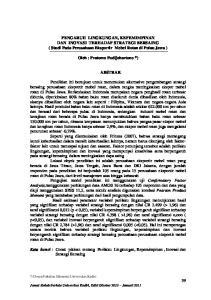PENGARUH LINGKUNGAN, KEPEMIMPINAN DAN INOVASI TERHADAP STRATEGI BERSAING ( Studi Pada Perusahaan Eksportir Mebel Rotan di Pulau Jawa )