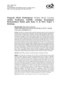Pengaruh Model Pembelajaran