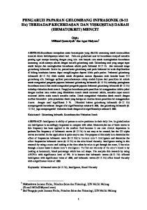 PENGARUH PAPARAN GELOMBANG INFRASONIK (8-12 Hz) TERHADAP KECERDASAN DAN VISKOSITAS DARAH (HEMATOKRIT) MENCIT