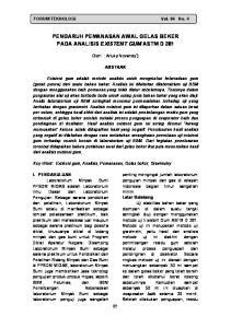 PENGARUH PEMANASAN AWAL GELAS BEKER PADA ANALISIS EXISTENT GUM ASTM D 381