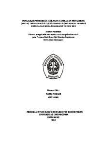 PENGARUH PEMBERIAN MAKANAN TAMBAHAN PEMULIHAN (PMT-P) TERHADAP STATUS GIZI BALITA GIZI BURUK DI DINAS KESEHATAN KOTA SEMARANG TAHUN 2012