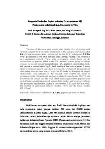Pengaruh Pemberian Pepton terhadap Perkecambahan Biji Phalaenopsis amboinensis J. J. Sm. secara In Vitro