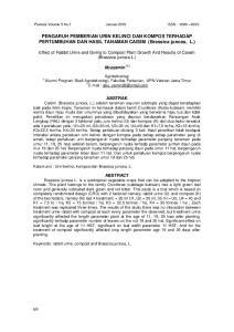 PENGARUH PEMBERIAN URIN KELINCI DAN KOMPOS TERHADAP PERTUMBUHAN DAN HASIL TANAMAN CAISIM (Brassica juncea, L.)