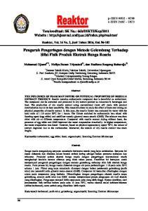 Pengaruh Pengeringan dengan Metode Gelembung Terhadap Sifat Fisik Produk Ekstrak Bunga Rosela