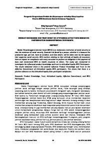 Pengaruh Pengetahuan Produk dan Kepercayaan terhadap Sikap Loyalitas Peserta BPJS Kesehatan Daerah Istimewa Yogyakarta