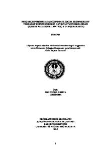 PENGARUH PERSEPSI ATAS CORPORATE SOCIAL RESPONSBILITY TERHADAP KEPUASAN KERJA DAN KOMITMEN ORGANISASI (SURVEY PADA HOTEL BINTANG V DI YOGYAKARTA)