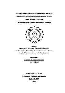 PENGARUH PERSEPSI WAJIB PAJAK PRIBADI TERHADAP PEMAHAMAN PENERAPAN SISTEM DROP BOX DALAM PELAPORAN SPT TAHUN 2008