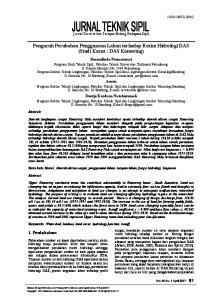 Pengaruh Perubahan Penggunaan Lahan terhadap Rezim Hidrologi DAS (Studi Kasus : DAS Komering)